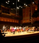 SPCO musicians warm up before a concert in Oslo, Norway